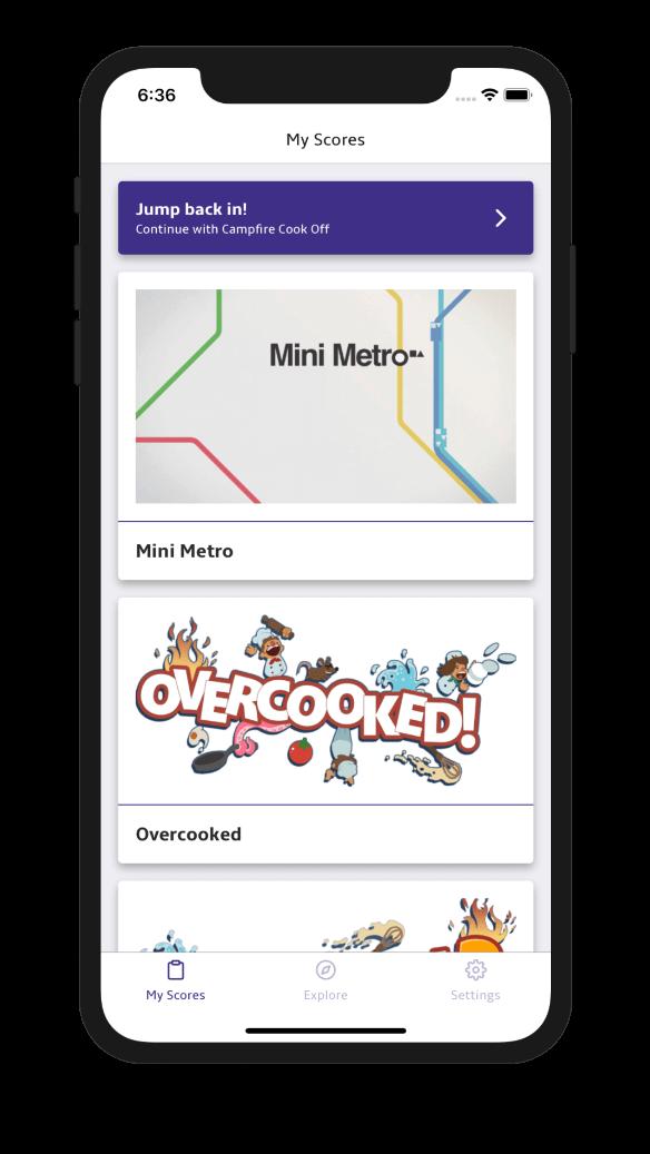trackscore app homescreen light theme